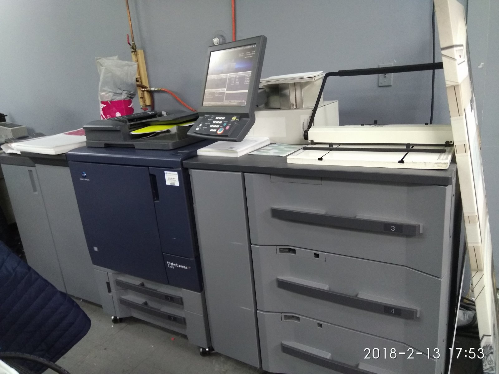 For sale: Konica Minolta Bizhub C1070 laser printer digital